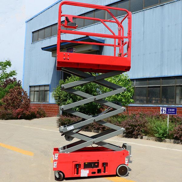 Towable Scissor Lift Extended Platform Hydraulic Electronic Self Leveling
