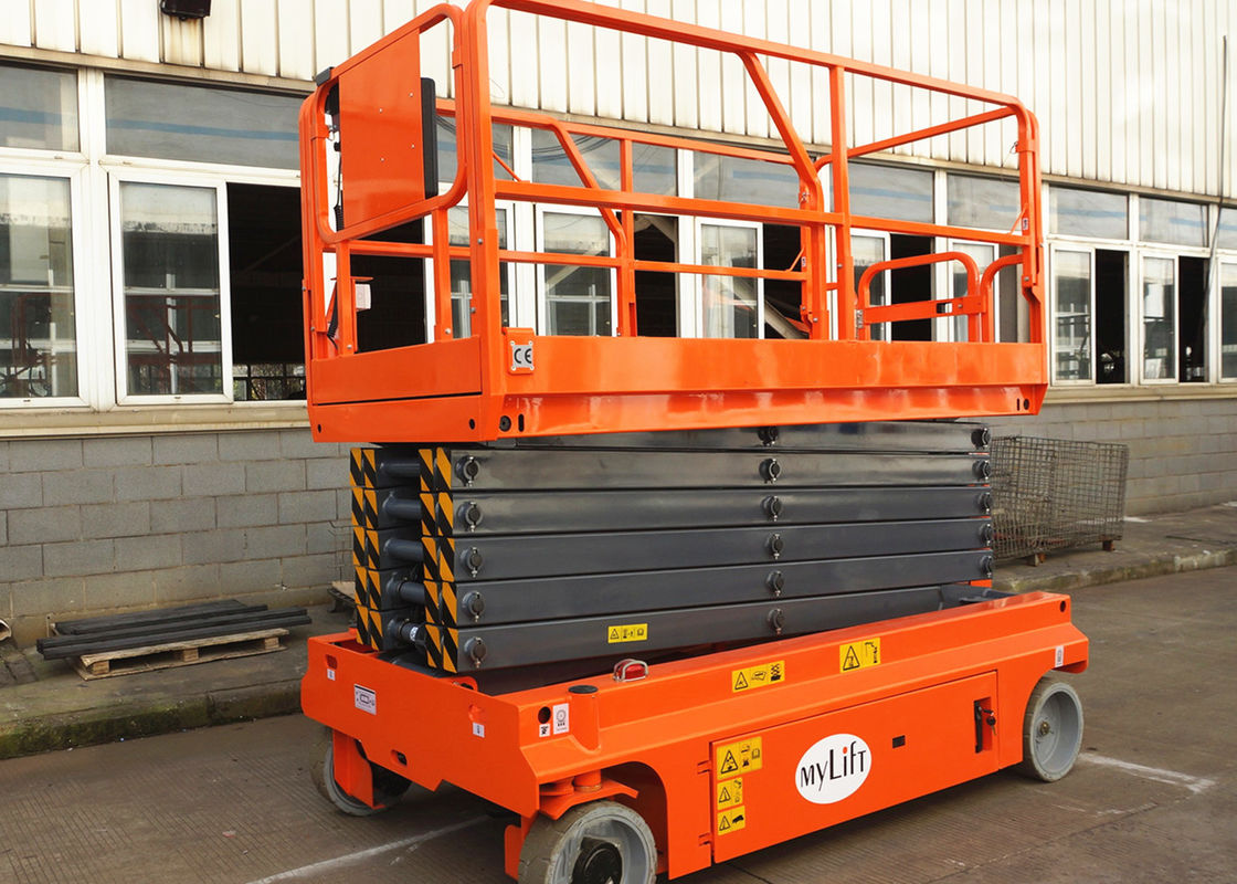 13.7m Self Propelled Scissor Lift Electric Hydraulic Man Lift Platform
