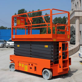 China Manganese Steel Electric Scissor Lift 10m Hydraulic Drive Work Elevated Platform factory