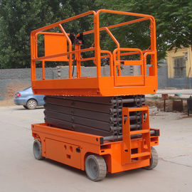 China 13.7m Scissor Lift With Extendable Platform Folding Rails Stable Performance factory