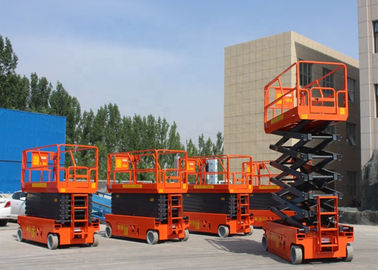 China One Man Mobile Hydraulic Scissor Lift Table Manual Proportional Control factory