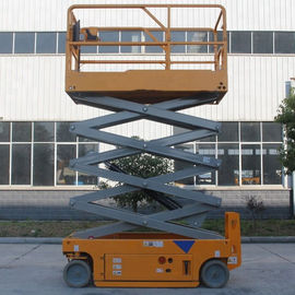 China Portable Hydraulic Scissor Lift Aerial Lift Platform With Solid Non - Marking Tire factory