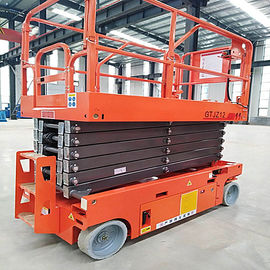 China Lightweight Movable Scissor Lift 11.8m Elevated Work Platform 230kg Loading Capacity factory