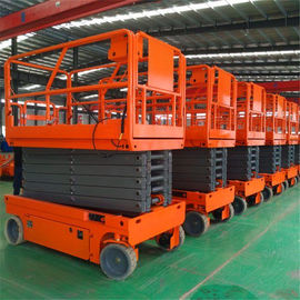 China Smart Operation Scissor Lift Machine Foldable Guard Rail With Extension Platform factory