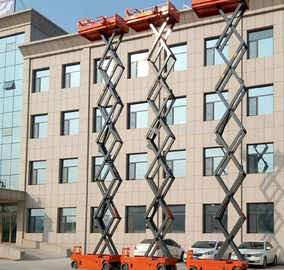 Self Propelled Movable Scissor Lift Aerial Working Platform 13.7m Electric Driven