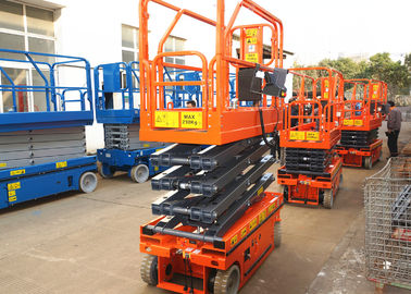 China Movable Scissor Lift Extended Platform Hydraulic Aerial Access Platform factory
