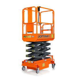 China Painting Surface Portable Scissor Lift With Extendable Platform Manganese Steel Material factory