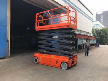 China 300kg Fully Powered Electric Scissor Working Platform 24V 4.5W Lift Motor factory